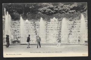 Men Walking Fountains Park Versailles France Unused c1904