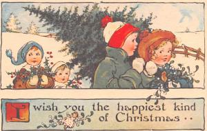 Christmas Postcard Old Vintage Antique Post Card Reproduction
