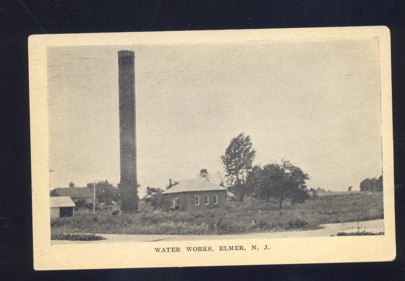 ELMER NEW JERSEY WATER WORKS TOWER STAND PIPE ANTIQUE VINTAGE POSTCARD NJ