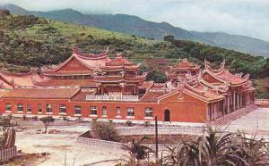 A side view of Hsintien Temple (Taoist) Kuangtu, Taiwan, 40-60s
