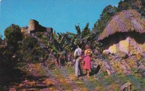 Haiti La Citadelle Mountain Top Fortress Pan American World Airways Postcard
