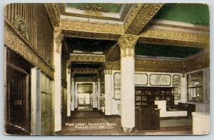 Kansas City MO~Scarritt Bldg~Elevator Door Dial~Art Nouveau Main Lobby~c1910 PC