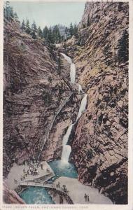 Colorado Seven Falls Cheyenne Canon 1919 Detroit Publishing