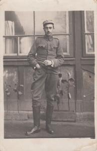 RPPC EASTERN EUROPE MILITARY MAN 1912 UNIFORM SOLDIER