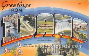 Linen Idaho, USA Postcard Post Cards Idaho, USA Linen