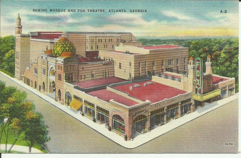 Atlanta, Georgia, Shrine Mosque and Fox Theatre
