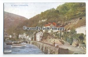 tq0562 - Devon - An Early View of Lynmouth Harbour and Village - Postcard