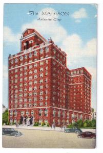 Atlantic City NJ Madison Hotel Vintage Kropp Linen Postcard