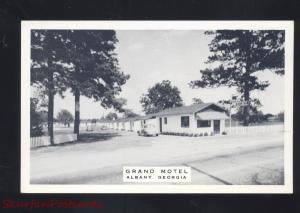 ALBANY GEORGIA GRAND HOTEL B&W ROADSIDE VINTAGE ADVERTISING POSTCARD GA.