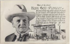 Kansas Ks Real Photo RPPC Postcard c1940s HAM BELL Pioneer Livery DODGE CITY
