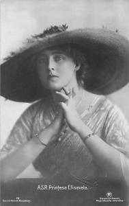Royalty A.S.R. Printesa Elisaveta, Elisabeth Hohenzollern Romania, Fancy Hat