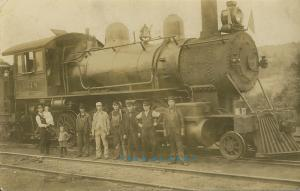 1909 Western Maryland Railway Real Photo Postcard: Locomotive 1648 & Personnel