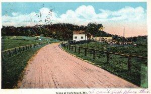 Vintage Postcard 1917 Scene At York Beach Maine ME