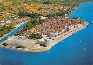 Croatia Trogir historic town harbour coast panorama