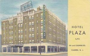 New Jersey Camden Hotel Plaza 5th And Cooper Streets 1954
