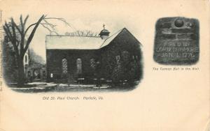 Norfolk VA~Old St Paul Church~Cannon Ball in Wall Inscription~Vignettes~1905 B&W