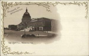 Washington DC Capital Bldg Souvenir Postcard #103 UDB 1890s EXC COND