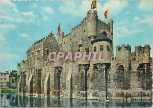 Postcard Modern Gent Ghent Castle of the Counts