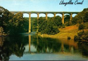 Wales Llangollen Canal Pontcysyllte Aqueduct From The River Dee