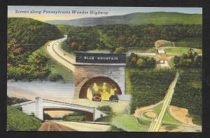 Scenes of Pennsylvania Turnpike Tunnel Unused c1940s