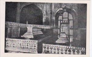 Indian Agra Cenotaphs Inside Taj Mahal