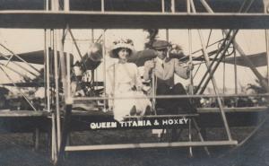 RP, Queen Titania & Hoxey in Bi-plane , 00-10s