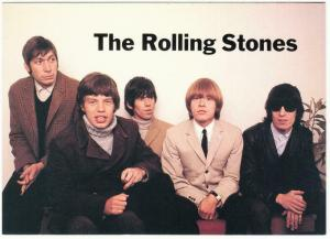 The Rolling Stones in the 1960s Group Portrait Modern Postcard