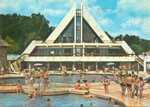 Postcard Romania Felix baths Apollo pool