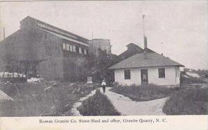 North Carolina Granite Quarry Rowan Granite Company Stone Shed &amp  Office