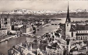 Switzerland Zurich und die Alpen 1951 Photo
