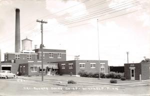 Winthrop Minnesota~County Dairy Co-Op~Real Photo Postcard 1950s