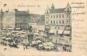 Postcard Croatia Zagreb Telacicev