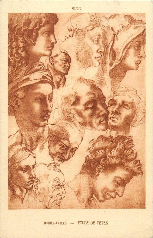Heads study - Michelangelo
