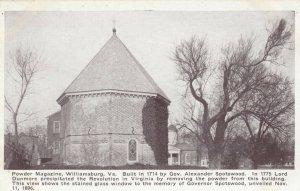 WILLIAMSBURG, Virginia, 1900-10s; Powder Magazine