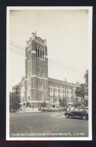 RPPC ST. PETERSBURG FLORIDA FIRST METHODIST CHURCH VINTAGE