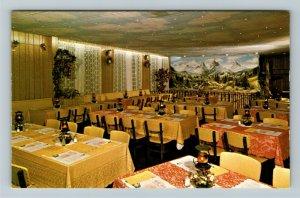 Wilmot OH- Ohio,  Alpine Alpa, Swiss Restaurant, Advertising, Chrome Postcard