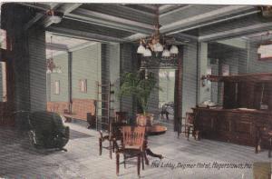 HAGERSTOWN , Maryland , PU-1913 , Lobby , Dagmar Hotel