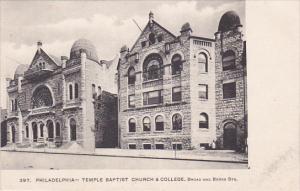 PHILADELPHIA  , Pennsylvania , 00-10s ; Temple Baptist Church & College