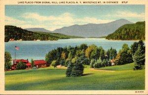 New York Adirondacks Lake Placid From Signal Hill Curteich
