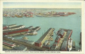 Boston, Mass., Boston Harbor and Waterfront From Custom House Tower