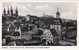 BAMBERG, Tellanstcht mit Dom, Michaelsberg und altem Rathaus, Bavaria, German...