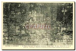 Old Postcard Ruins D Angkor Bayon Bas Relief of Foreign galleries