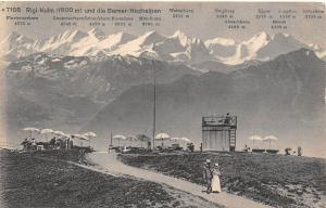 Switzerland Rigi-Kulm und die Berner-Hochalpen 1912 AK