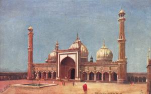 The Jumma Musjid, Delhi, India, Early Tuck's Postcard, Unused