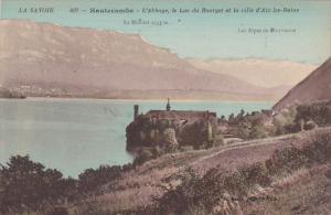 France Aix-les-Bains Hautecombe L'Abbaye Le Lac du Bourget et la ville d'Aix-...