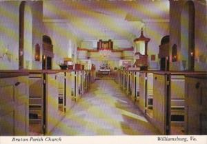 Interior Bruton Parish Church Williamsburg Virginia