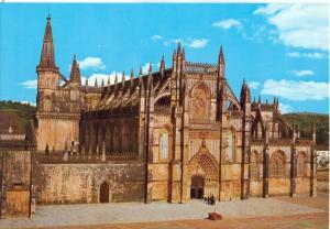 Portugal, BATALHA, Mosteiro Fachada, Monastery Front, unused Postcard