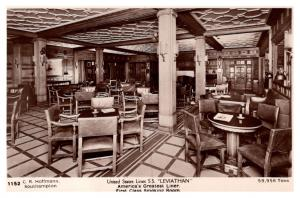 S.S. Leviathan , United States Lines , 1st Class Smoking Room ,   RPC