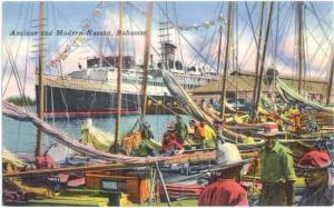 Ancient and Modern Nassau, Bahamas, 1950 Linen