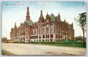 St Louis Missouri~Dirt Road Right Past Massive City Hall~1910 VO Hammon Postcard